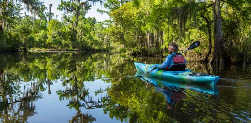 Kayaking with Canoe in New Orleans Northshore